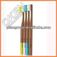 2015 hot selling toothbrushes with soft bristles T3039 bamboo toothbrush round