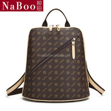 Fashionable 2015 travel laptop backpack/jewelry bag organic backpack/new design ladies backpack bag