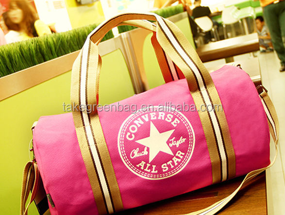 polyester sport gym bag with handle and shoulder strap