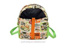 2015 new design kids cartoon picture of school bag