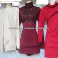 senhoras mais recente projeto vermelho elegante blusa de inverno com pregos