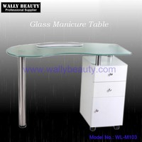 Professional nail technicians table glass manicure table