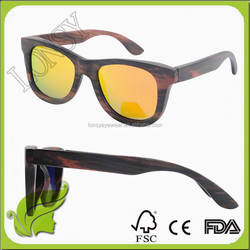 Alibaba China Supplier Custom Skateboard Wooden Frame Wayfarer Sunglasses For Party Decoration
