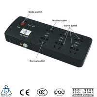 Master Slave 6 outlet ul power strip with surge protector