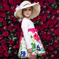 Beautiful many color chioce kids fashion dresses pictures frock design for baby girl kids wear manufacturer