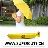 2015Eye-catching banana form offset umbrella folding style