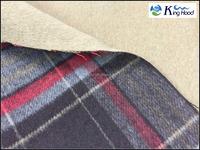 Double faced wool fleece fabric for garment, 30% wool, 900g/m