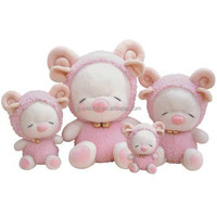 group of pink pig toy plush nice stuffed animal toy for kids
