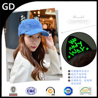 GDG1884 Korea style caps with cute led ear winter plush sport hat baseball