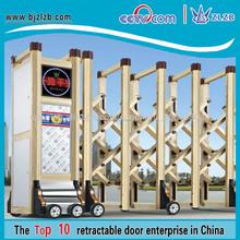 Natural revestimiento por pulverización de la madera portón eléctrico diseño de la puerta principal