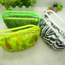 silicone mini zebra full printing tote bag handbag with coin purse key walets