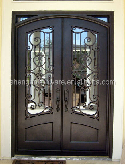 Sen D024 Decorative Double Entry Wrought Iron Doors Buy Wrought Iron Door W