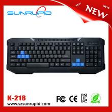 Wholesales Desktop USB 2.0/3.0/4.0 Wireless Multimedia Computer Keyboard Plug and Play Blue Keys