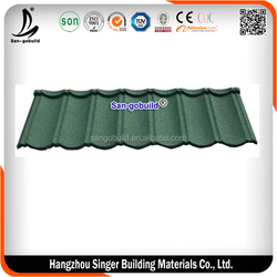 popular classic colorful stone coated metal roofing tile / metal corrugated tile roofing/Stone Chip( Factory)