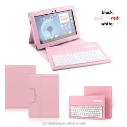 Detachable Wireless Bluetooth Keyboard Leather Case for Samsung N8000 Galaxy Note 10.1 + USB cable
