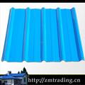 Color de metal corrugado hoja de acero para panel de techo