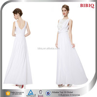 Wholesale white chiffon lace mermaid long crystal evening dress