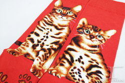 The Cat Series Bengal Cat high quality Crew Socks / Maiden Crew Socks