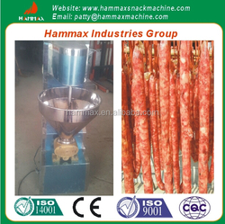 The stainless steel material hot dog sausage stuffing machine