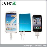 For smart mobile phone and laptop charging with led light slim power bank 2200 mAh/3000mAh/3500mAh/4000mAh6500 mAh)