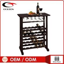 mdf brown cubicle bamboo wine rack,wine bottle display case