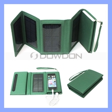 5W Foldable Purse Solar Panel 8000mAh Universal Solar Charger with 1.5W LED
