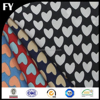 Factory high quality digital heart print fabric