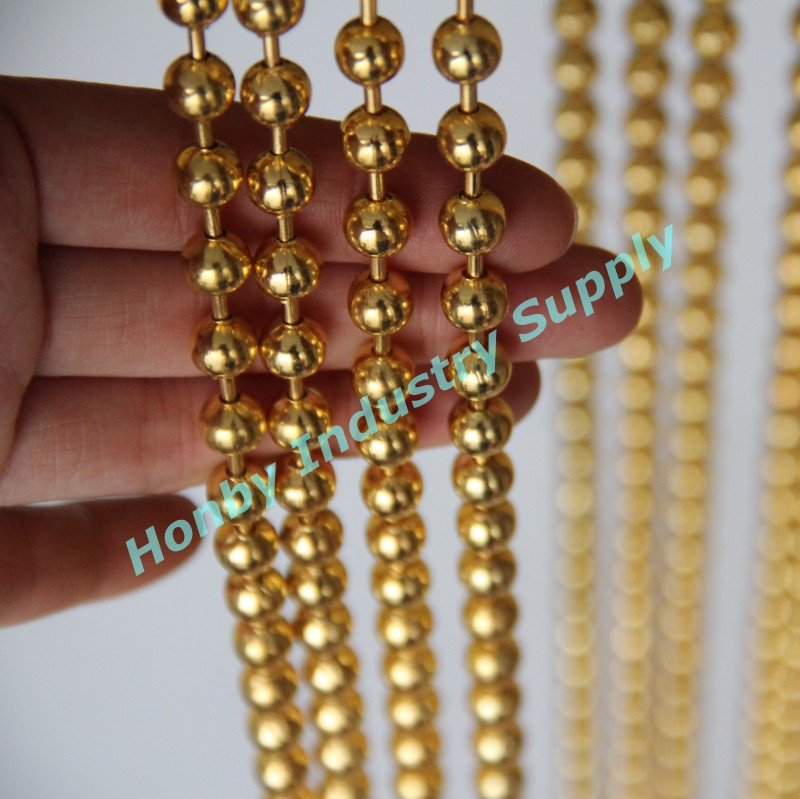 Home Decor Gold 8mm Metal Bead Curtain