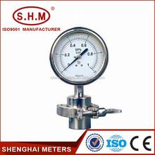 Cheap liquid fill pressure gauge with diaphragm seal