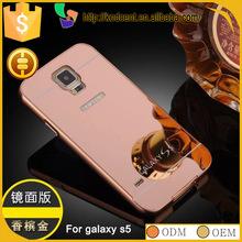 unbreakable mirror aluminum metal bumper case for samsung galaxy s5 sm-g9600