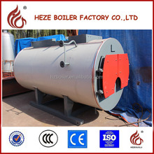 WNS fire tube 1000kg/h industrial oil gas steam boiler price