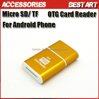 Aluminium Body USB 2.0 Smart Micro USB TF OTG Card Reader, Connection Kit For Android mobile phone