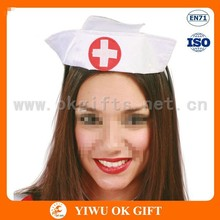 Sexy nurse hat beadband mini top hat headband mini chapéu sombrero