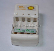 Solar Battery Charger for 4 pcs AA/AAA