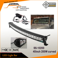 42INCH 200W SINGLE ROW CREE LED WORK LIGHT BAR CURVED COMBO OFF ROAD 4WD TRUCK