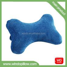 Cheap Wholesale dog bone shape pillow, memory foam car neck pillow
