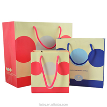 2015 Cheap fancy christmas packaging paper gift bag&shopping bag with handles