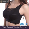 Comfortable fitness black ladies sports bra underwear wholesale