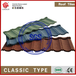 Sand Coated steel Roofing Tiles Hot Sale Villa stone coated metal roofing tile Classical