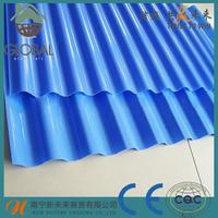 Brand new villa blue glazed synthetic resin metal roof tile make in shandong