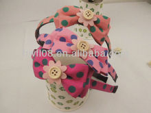Lovely fabric hair accessories with decorative button