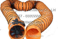 fire-resistant PVC air duct,spiral duct with portable blower