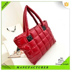 Mature autumn winter silk lady trendy tote bag wholesale