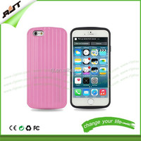 New design mobile phone accessories travel style hybrid pc back phone case for iphone 6 4.7