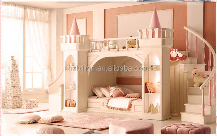 2015 enfants chambre meubles lit superpos lit de princesse avec des escaliers literie id de. Black Bedroom Furniture Sets. Home Design Ideas