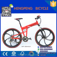 China bicycle factory wholesale top bike lightweight aluminum folding bike full suspension foldable mountain bike folded bicycle