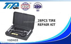 YSD403 TIRE REPAIR KIT 28 PCS, T-handle tools