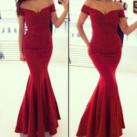 2014 Red Formal Fishtail Mermaid Elegant Long Party Evening Dress Prom Gown Women back corss Vestidos de Renda Maxi Dress