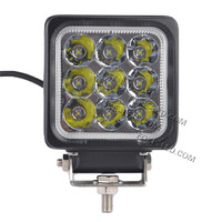 new type square auto led off road light 4'' work light led 27w