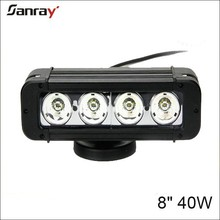 8 inch 40w marine led light bar waterproof spot/flood/combo beam for truckl/trailer/motorcycle
